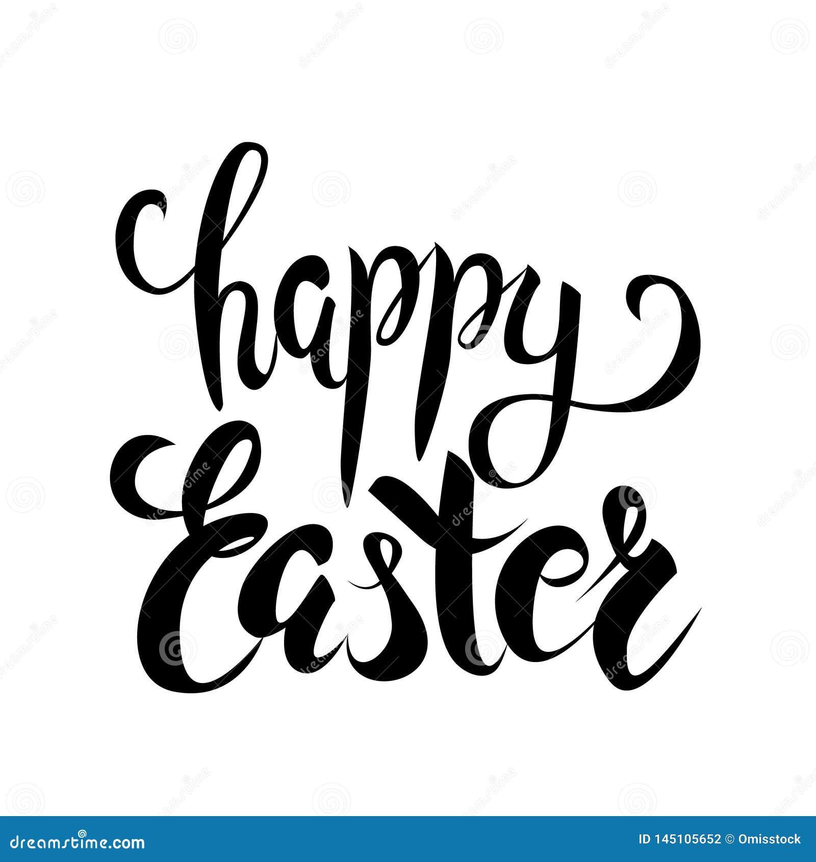 Het gelukkige vector van letters voorzien van Pasen