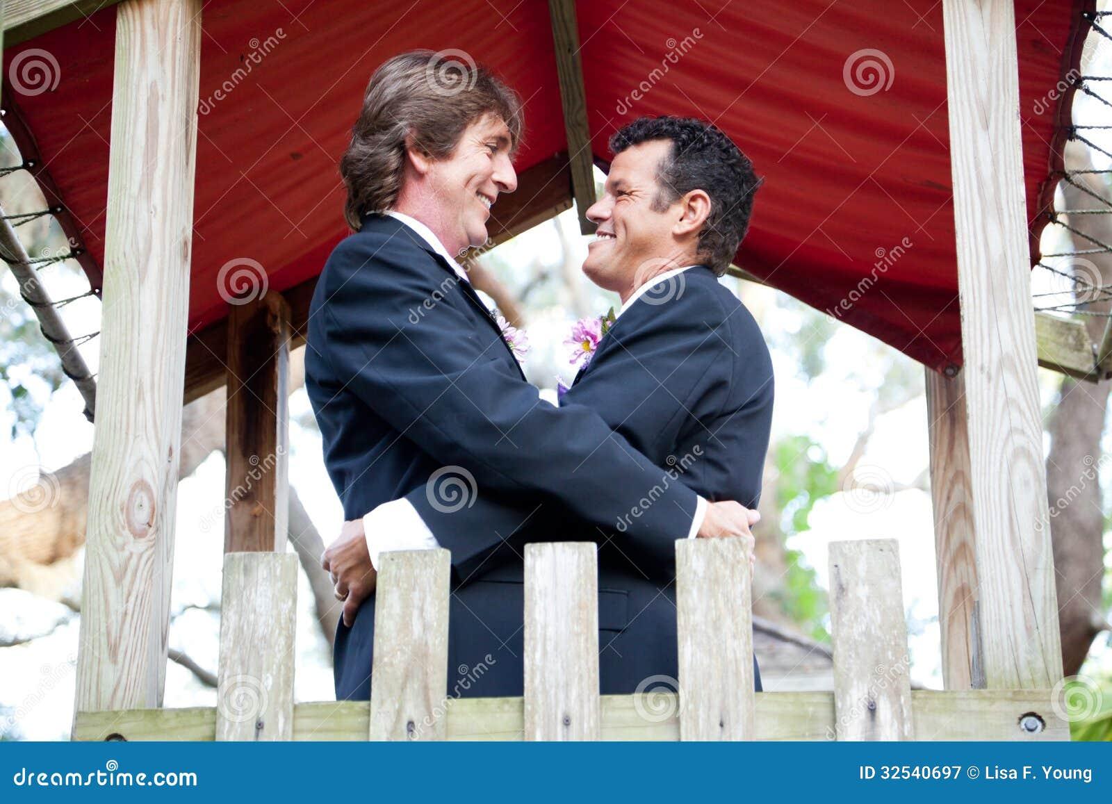Het gelukkige Vrolijke Paar huwt in het Park
