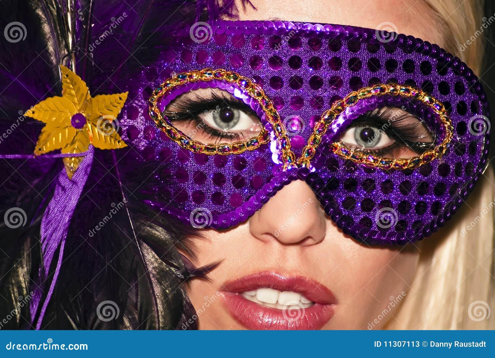 Het gemaskeerde Meisje van de Partij van de Maskerade van Mardi Gras