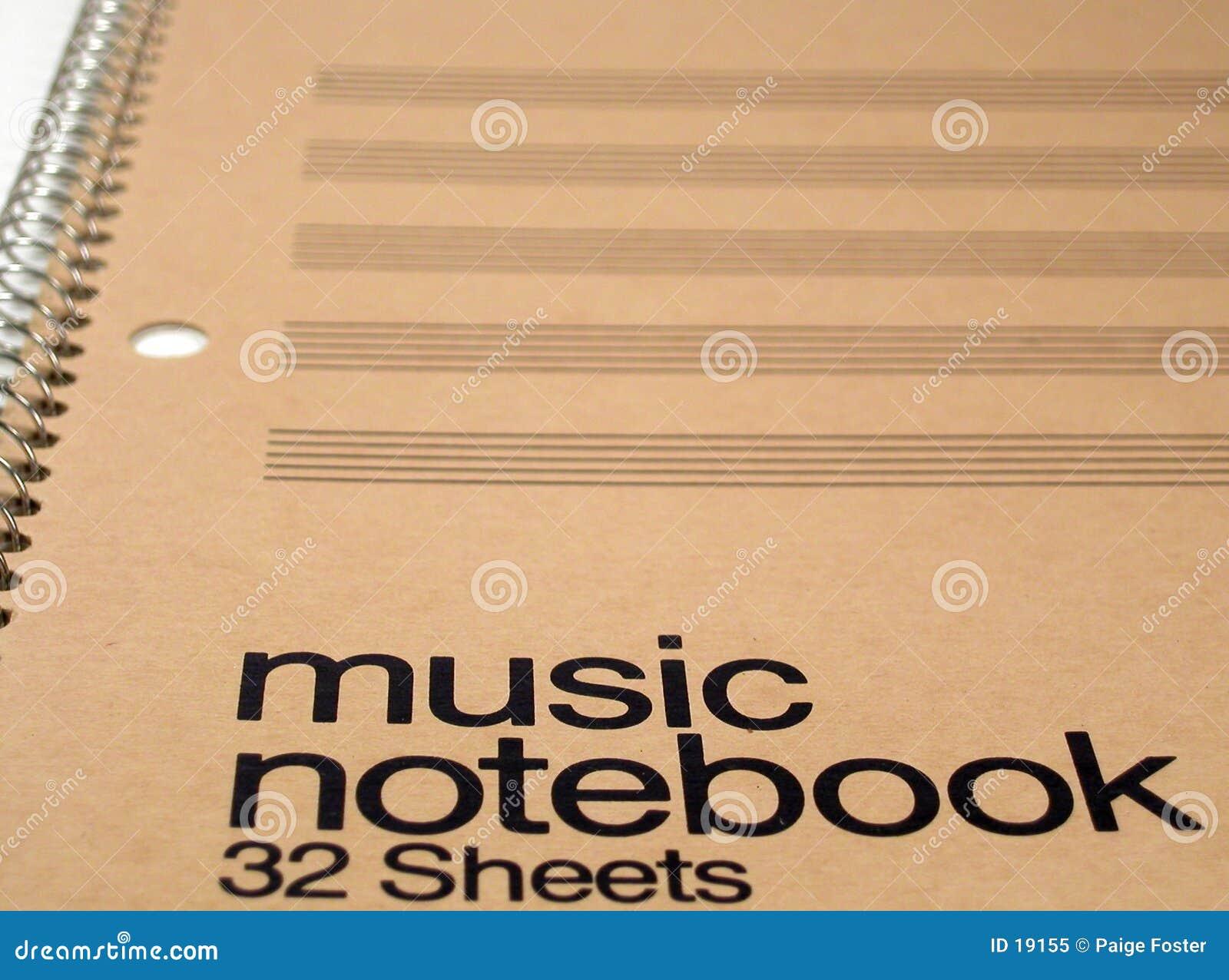 Het generische Notitieboekje van de Muziek