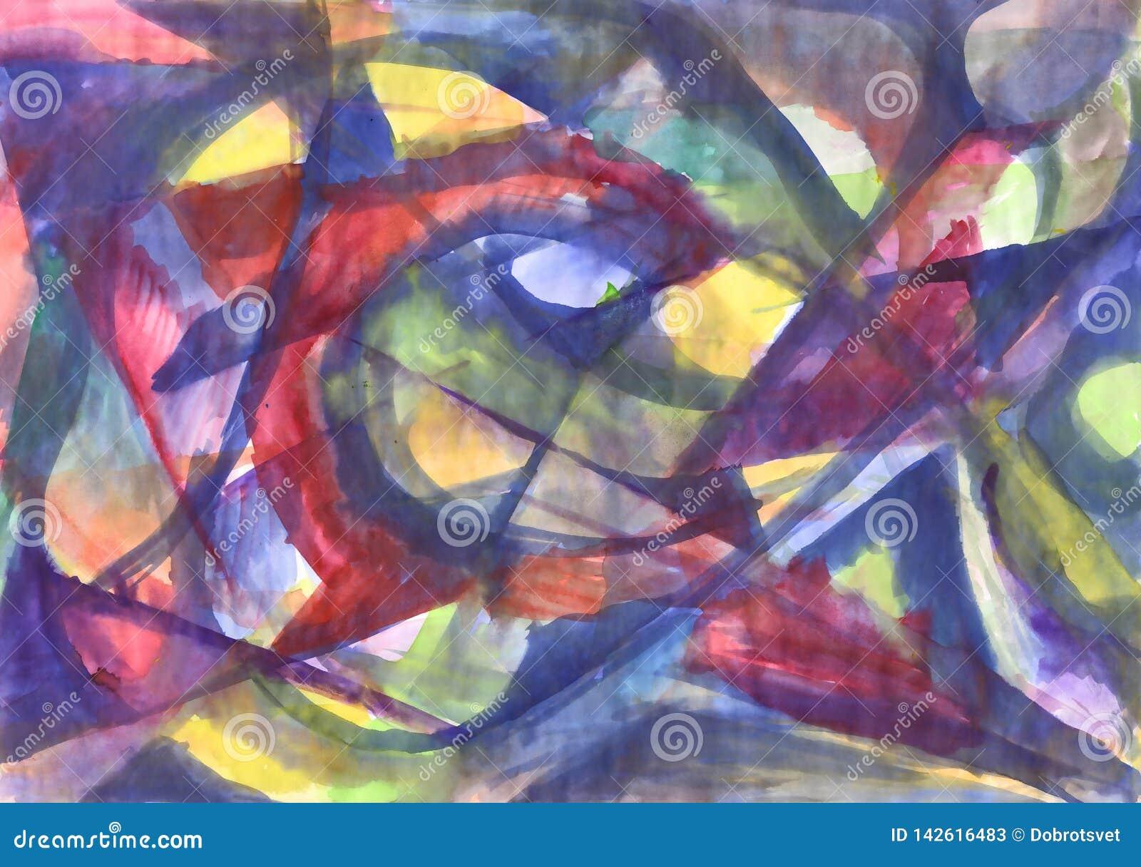 Het geometrische abstracte waterverf schilderen Caleidoscoop
