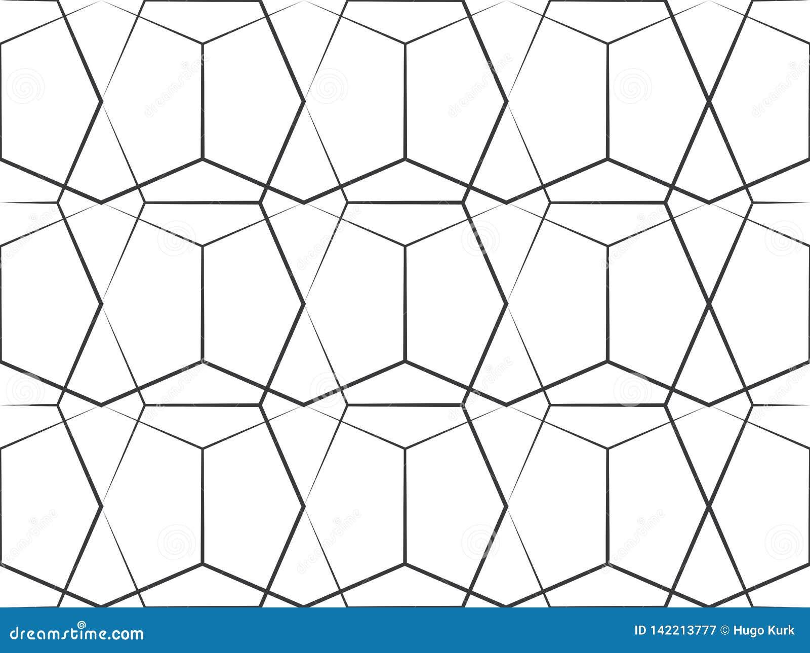 Het geometrische Patroon van de Lijn