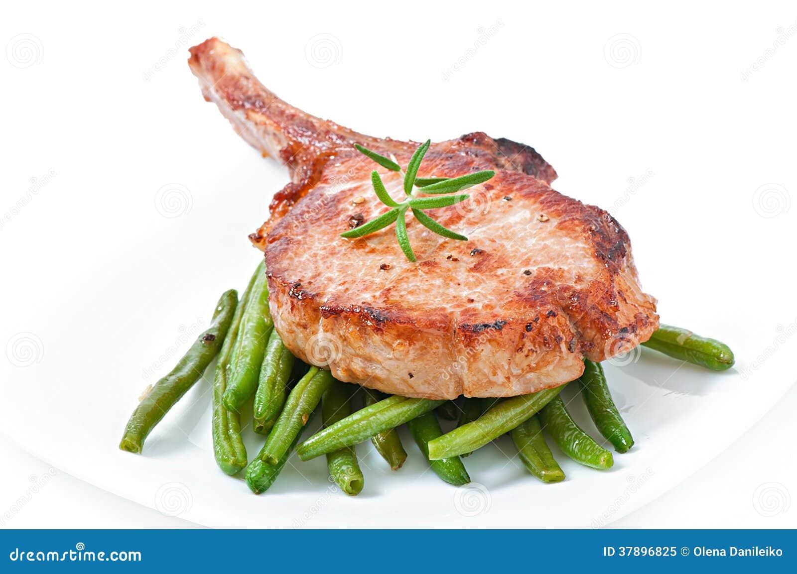 Het geroosterde lapje vlees van de varkensvleesfilet