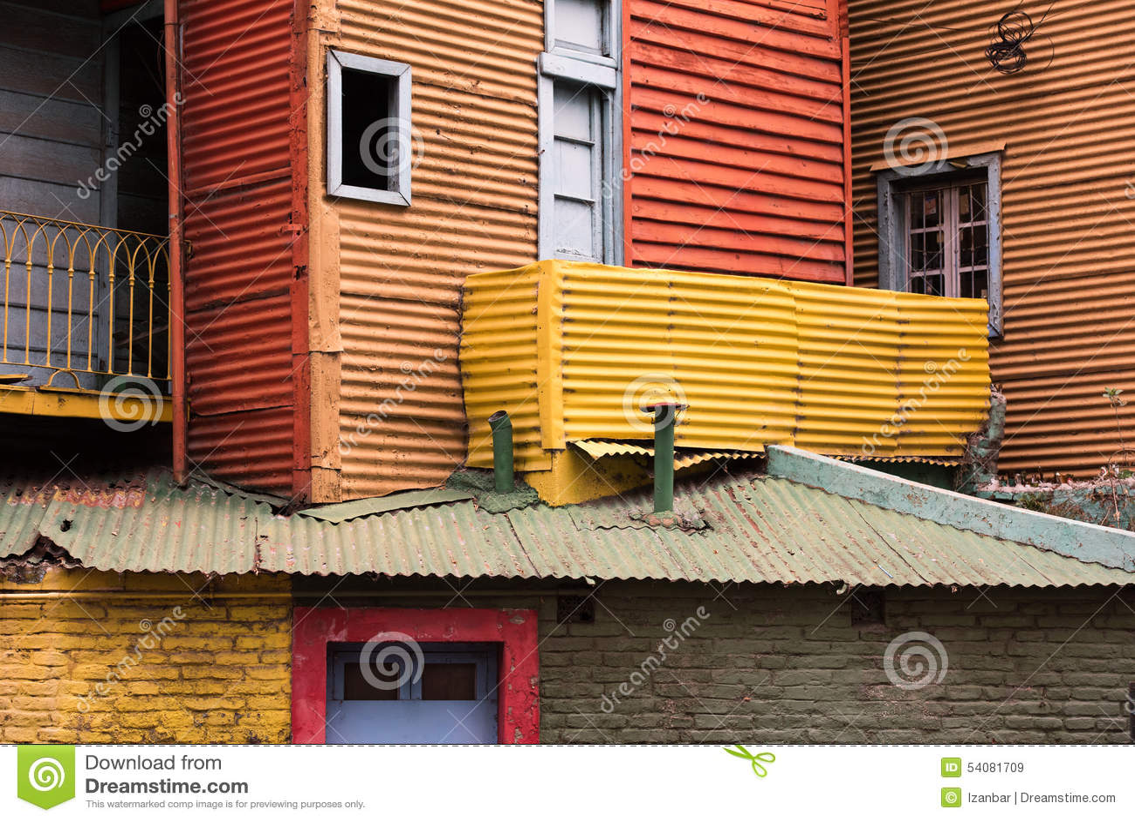 Het geschilderde huis van La boca in Buenos aires