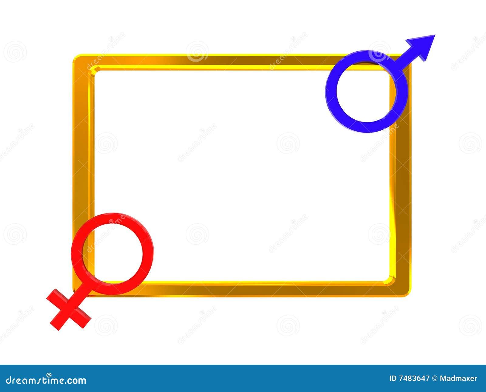 Het geslacht ondertekent frame