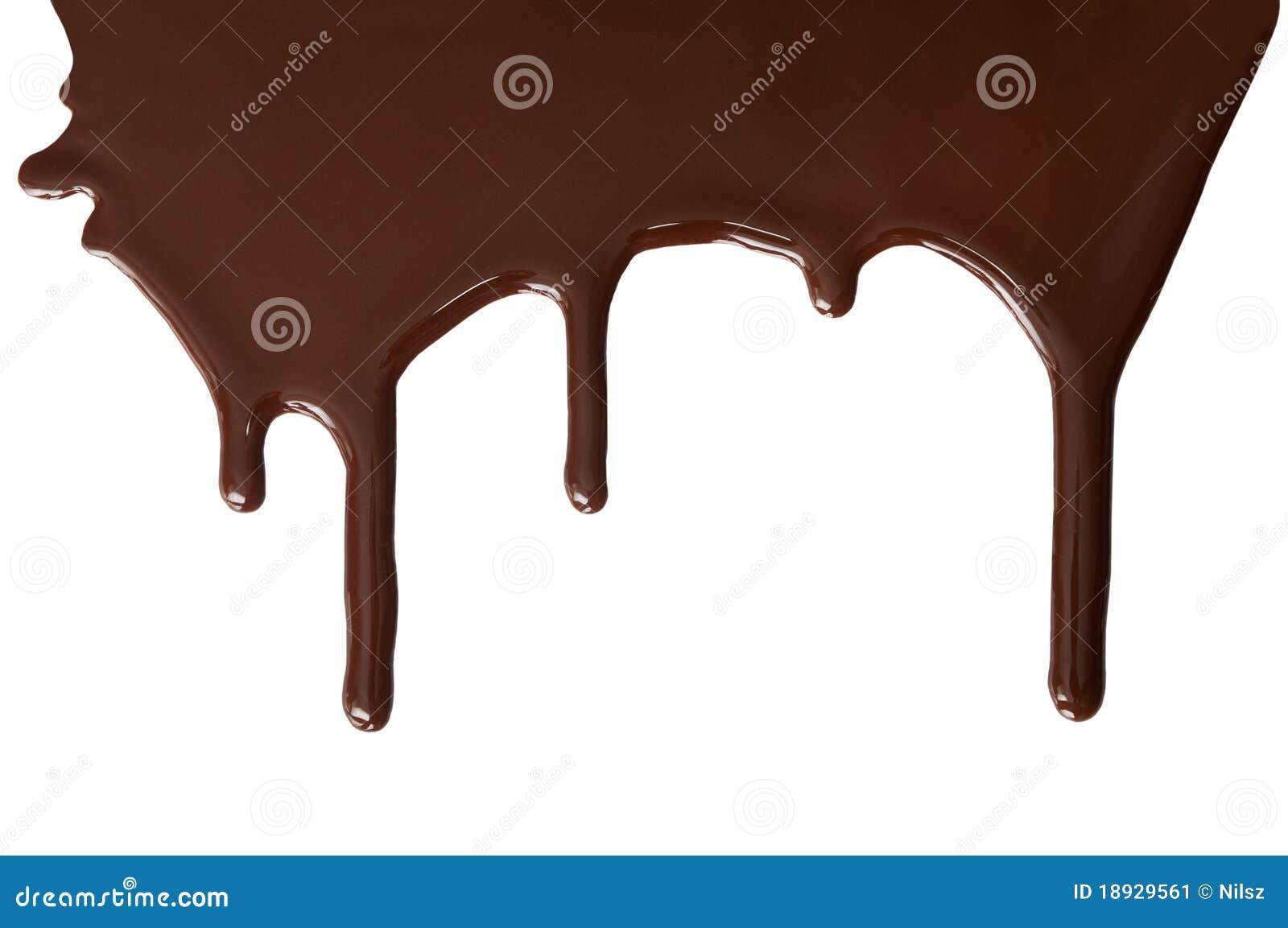 Het gesmolten chocolade druipen
