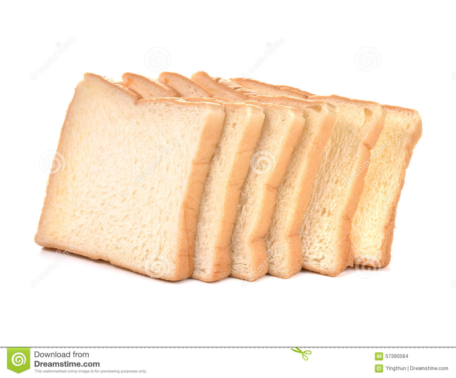 Het gesneden brood isoleerde witte achtergrond
