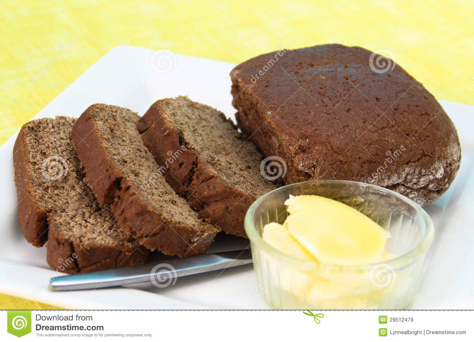 Het gesneden Brood van de Rogge met Boter