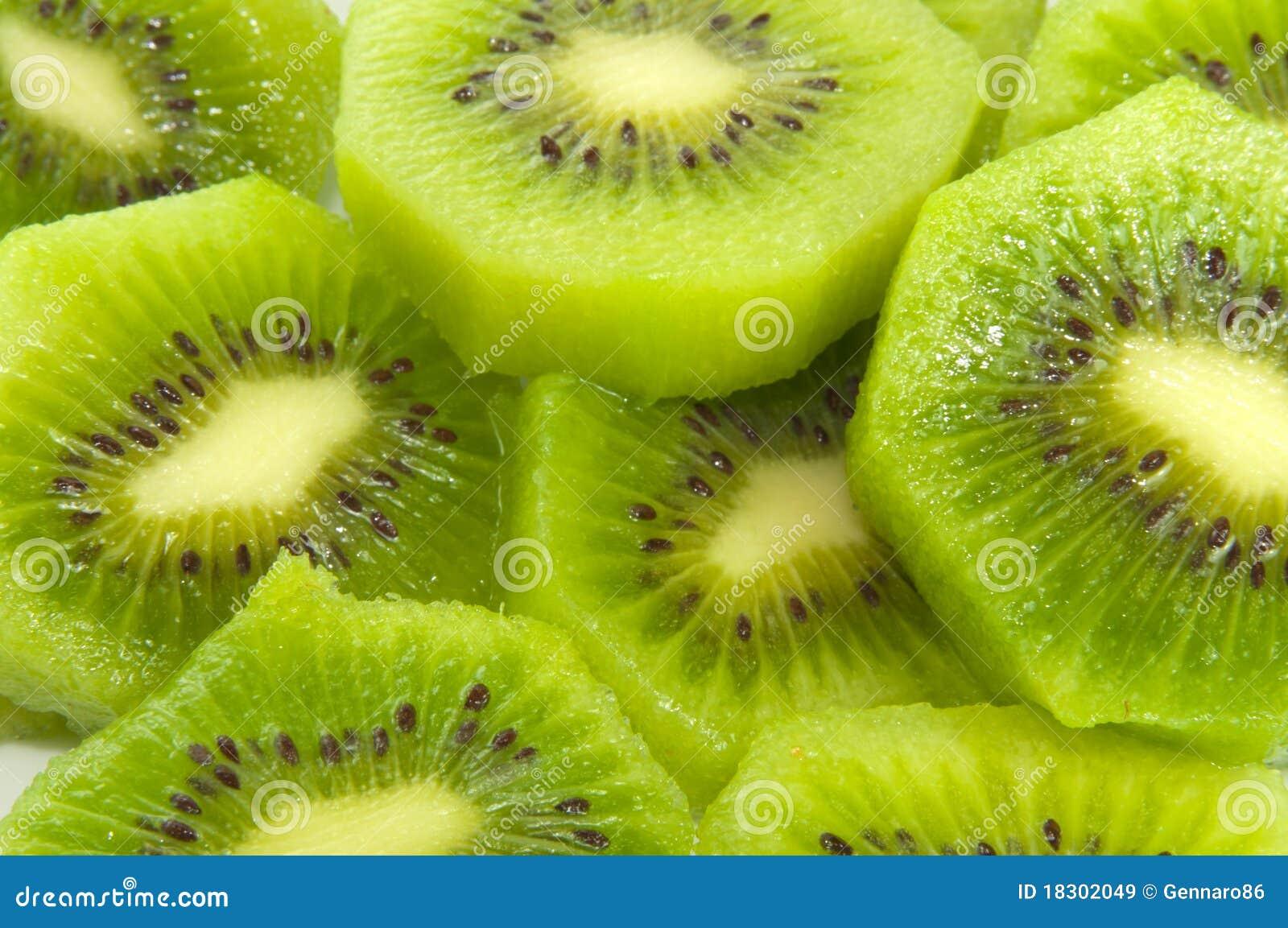Het gesneden Fruit van de Kiwi