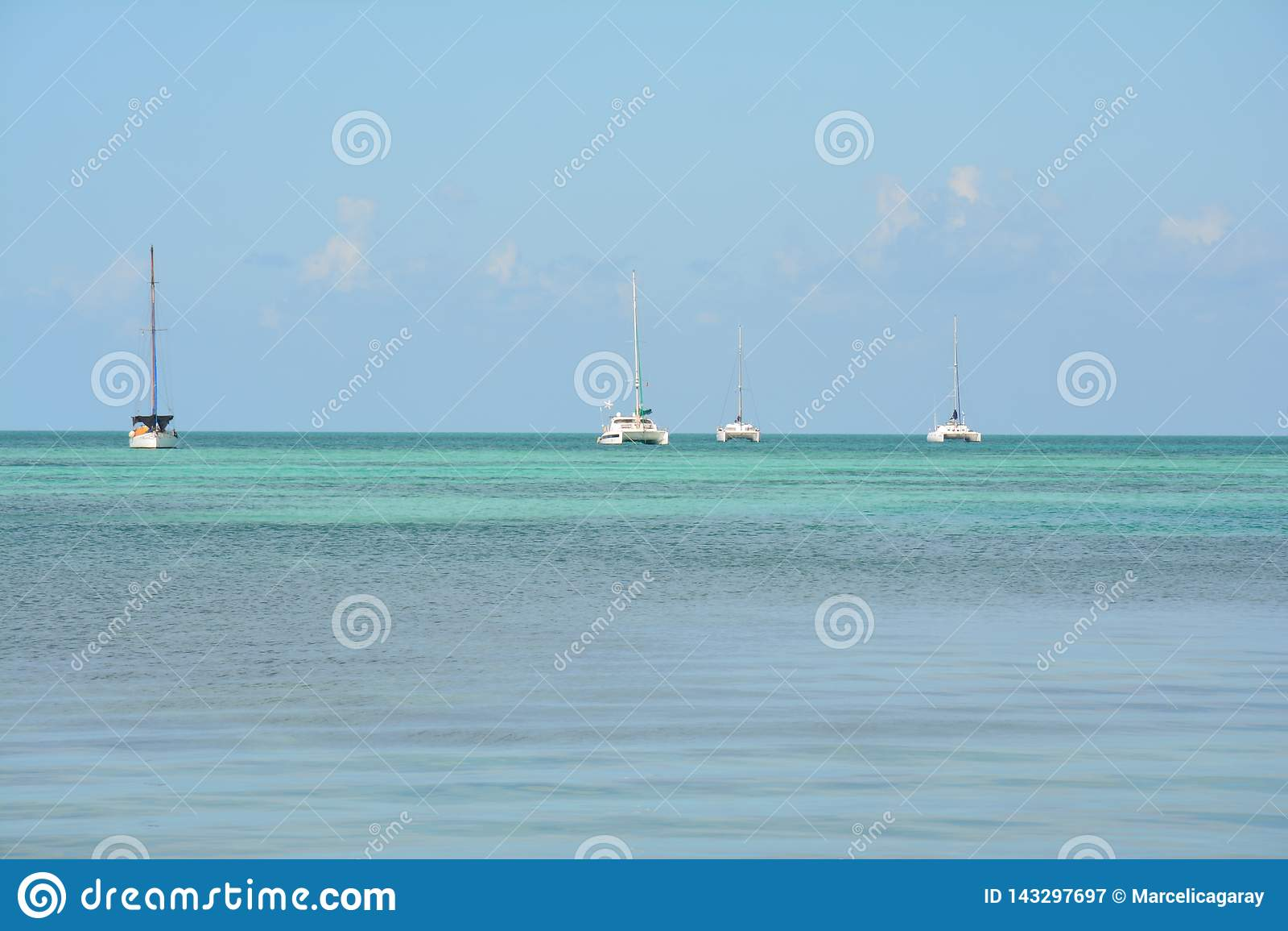 Het Gespleten Strand op Caye-Breeuwijzereiland Belize