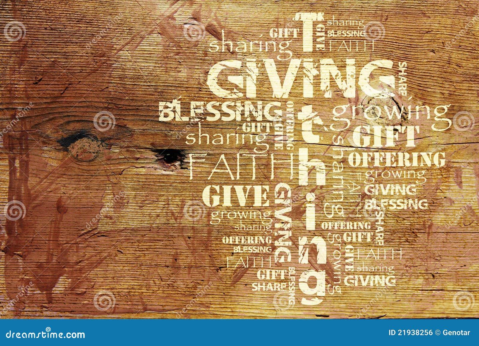 Het geven en Achtergrond Tithing