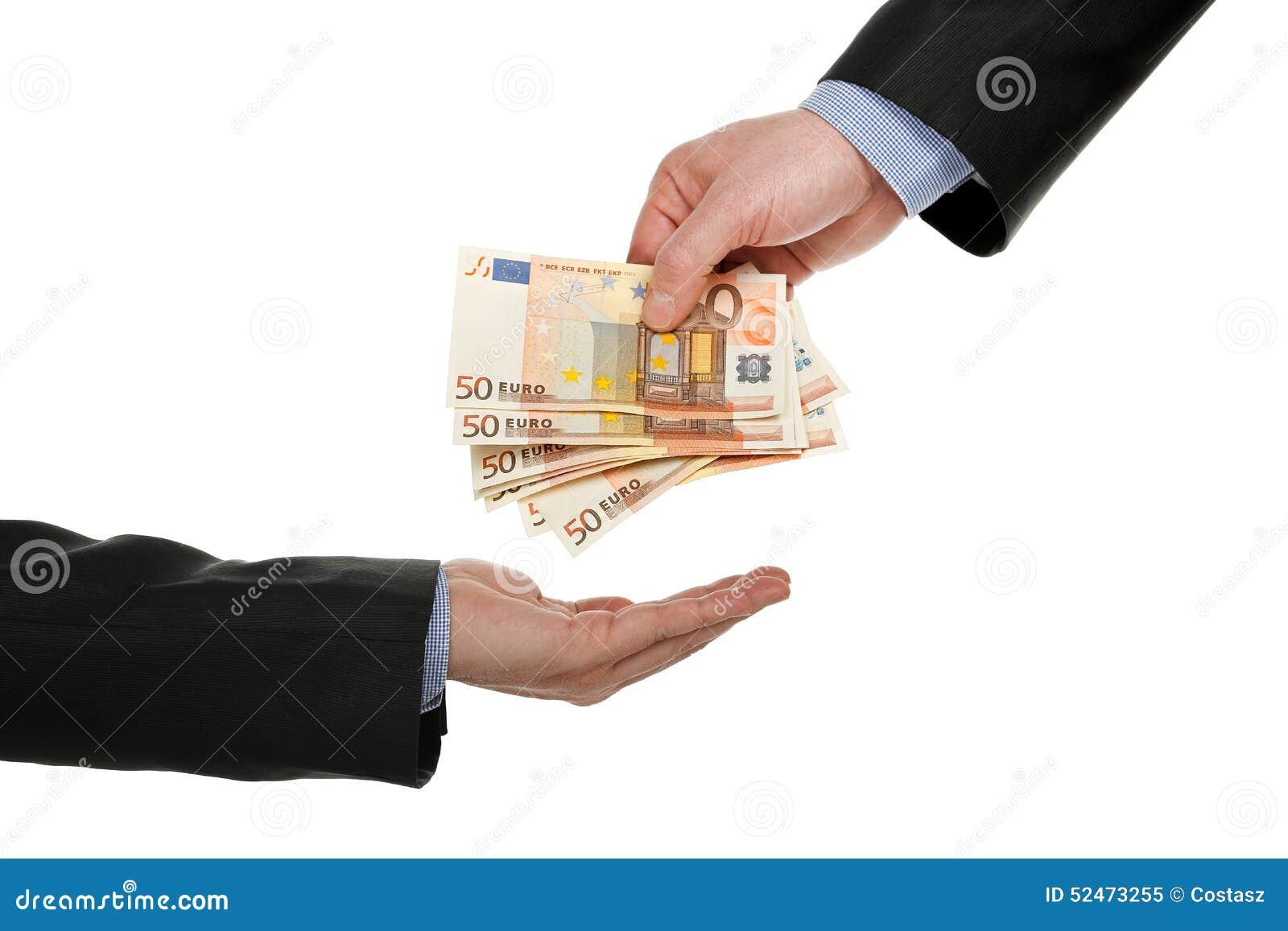 Het geven van geld