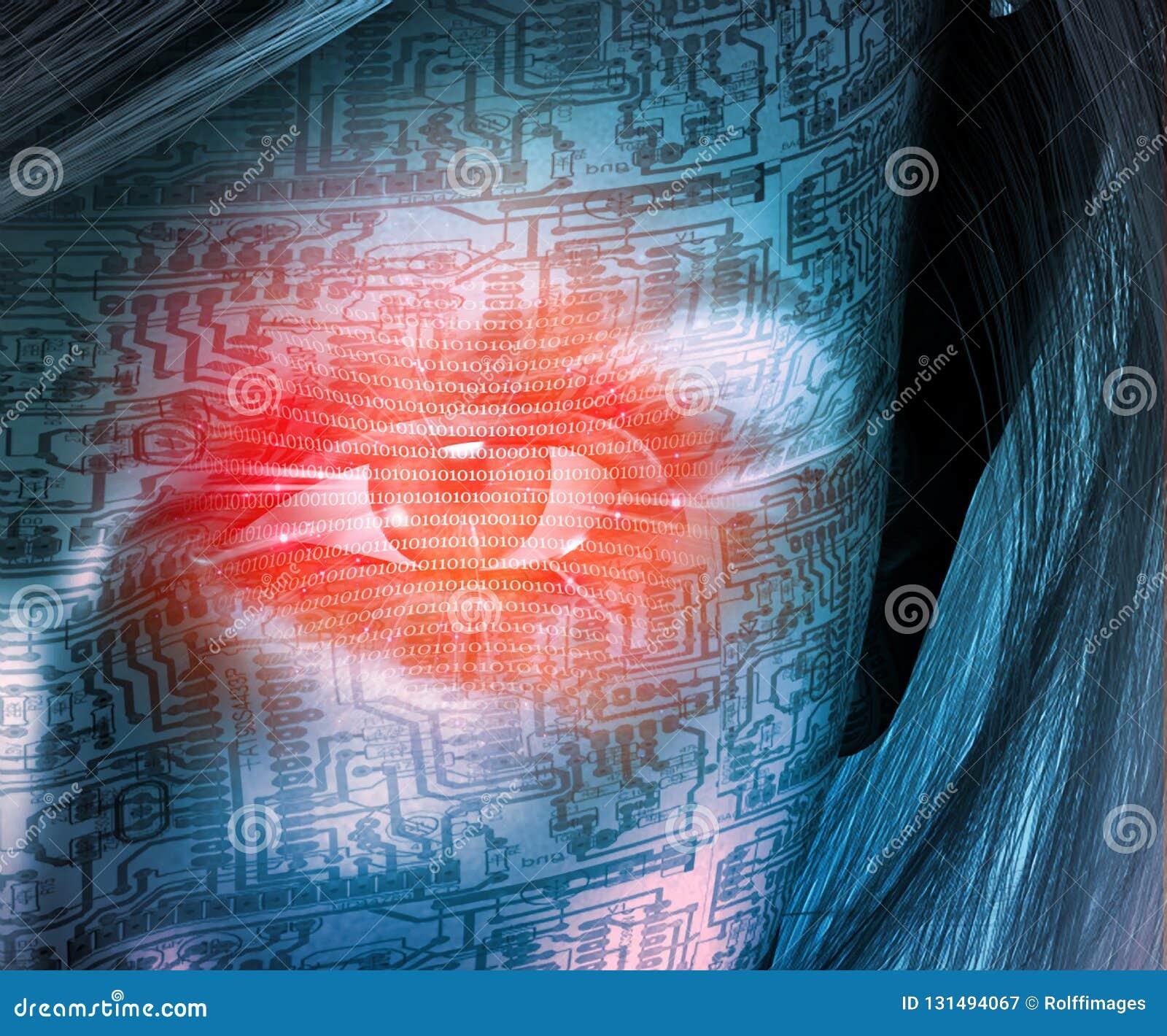 Het gezicht van de Cyborgvrouw