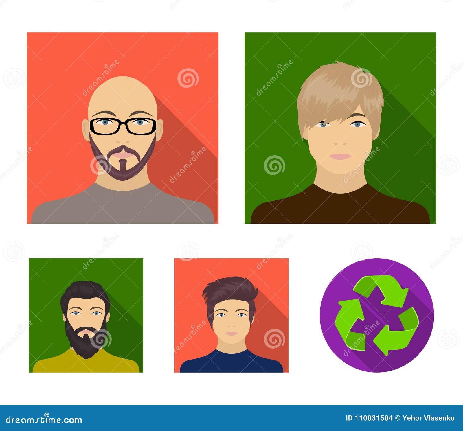Het gezicht van een Kale mens met glazen en een baard, een gebaarde mens, de verschijning van een kerel met een kapsel Gezicht en
