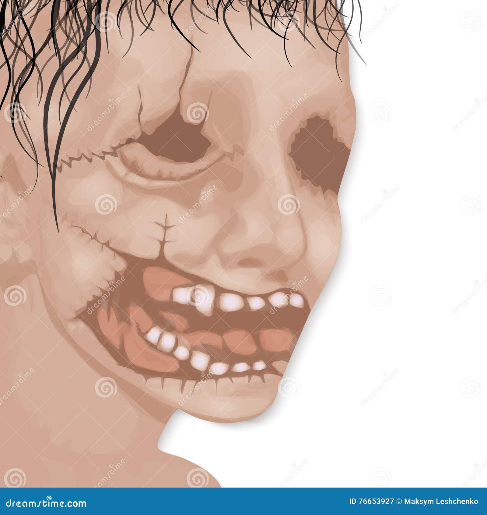 Het gezicht van het overledene voor Halloween-vector