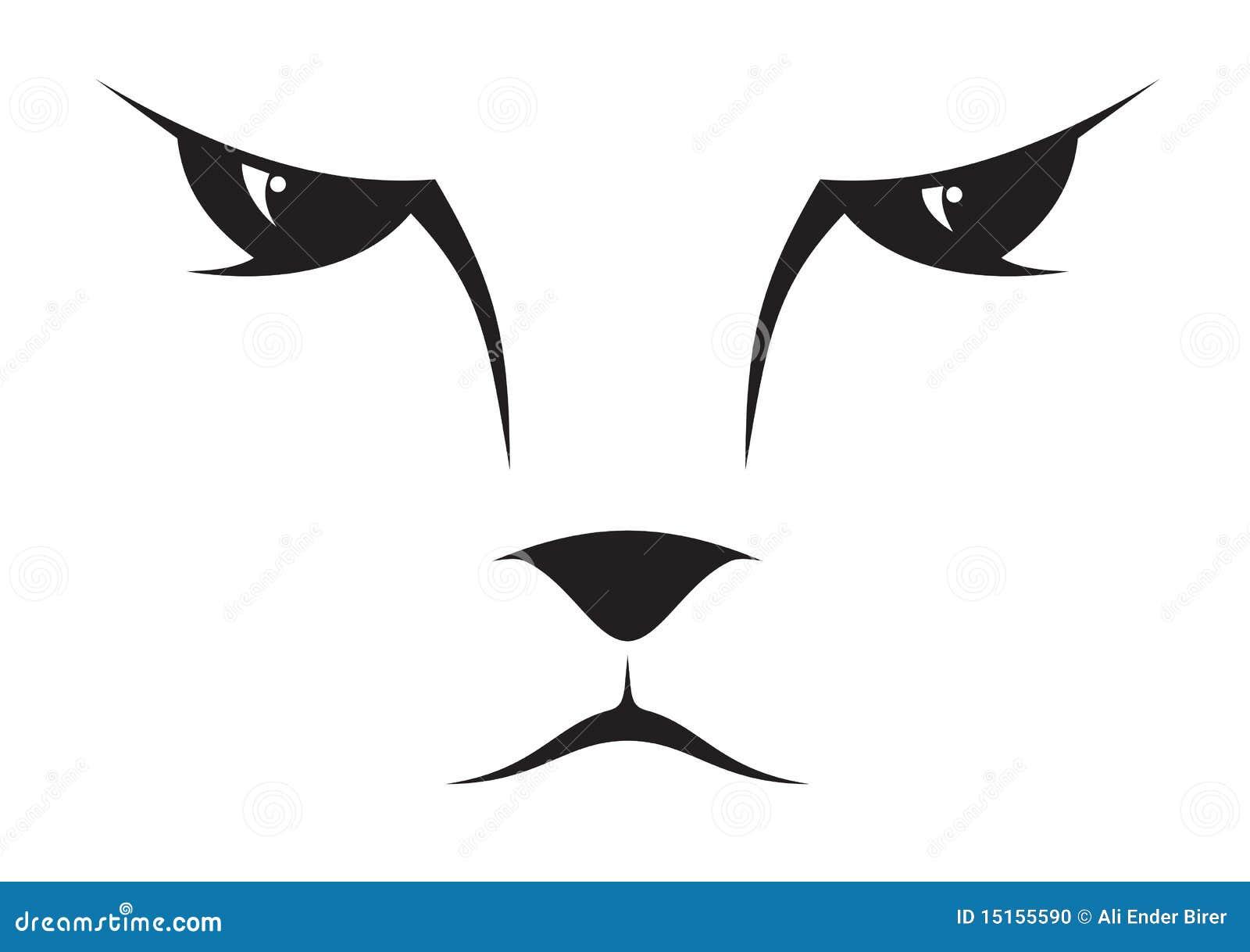 Het gezichtspictogram van de kat