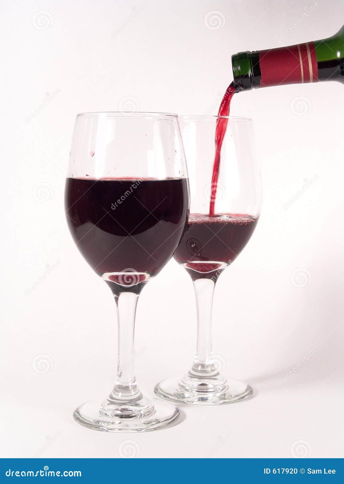 Het Gieten van de Glazen van de wijn