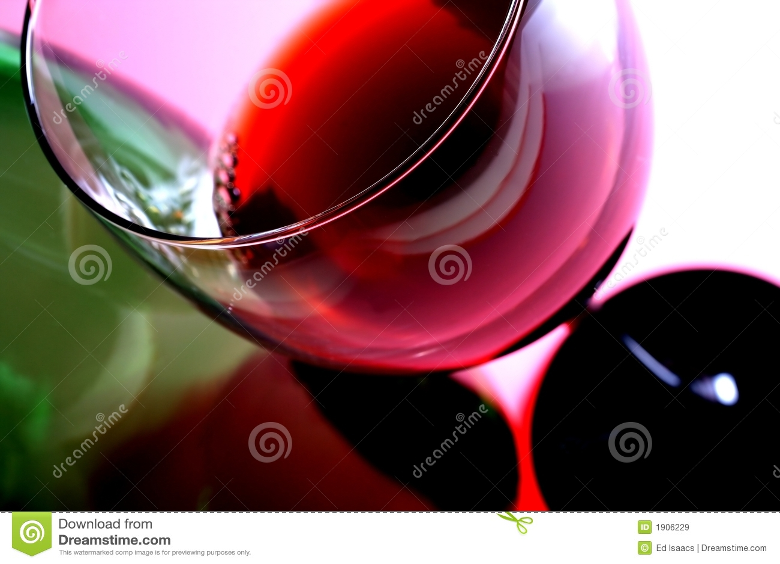 Het Glas & de Fles van de wijn