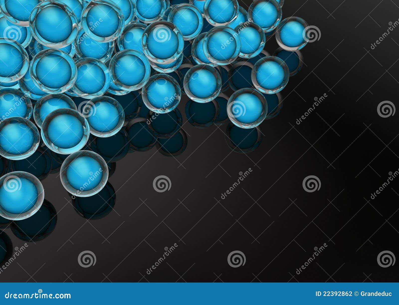 Het glas marmert met gloeiende blauwe binnen orb