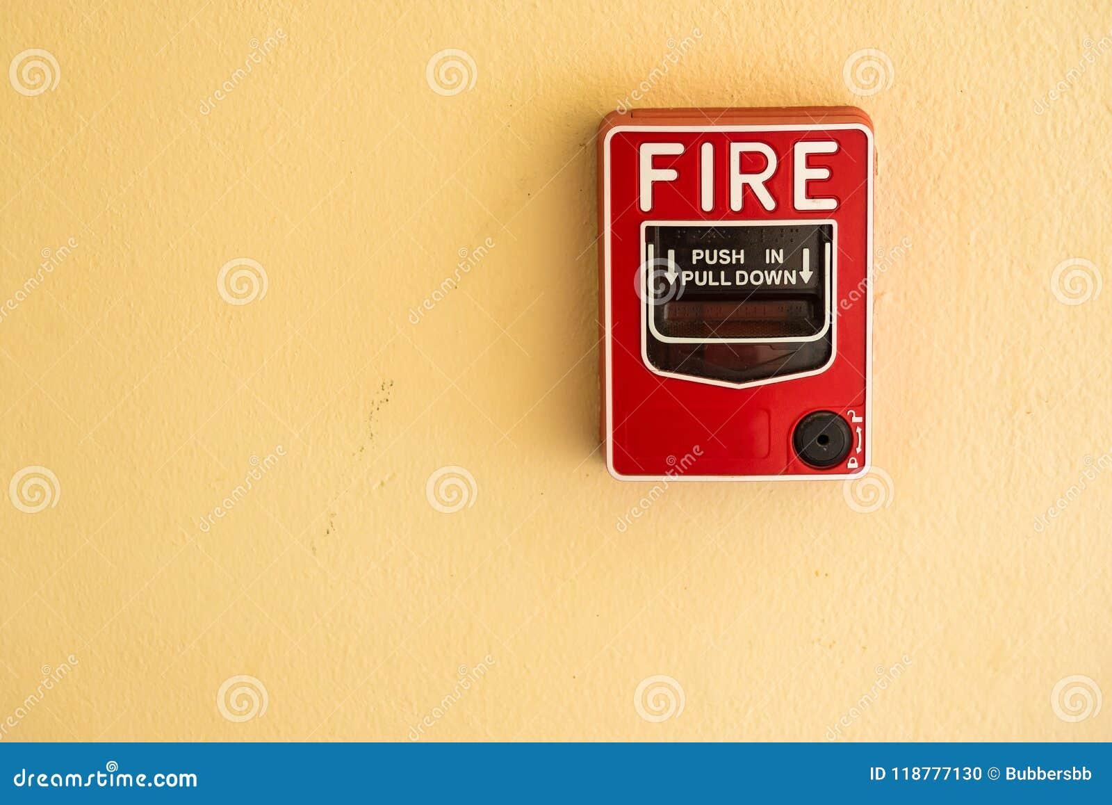 Het het glasalarm van de brandonderbreking schakelt de cementmuur in