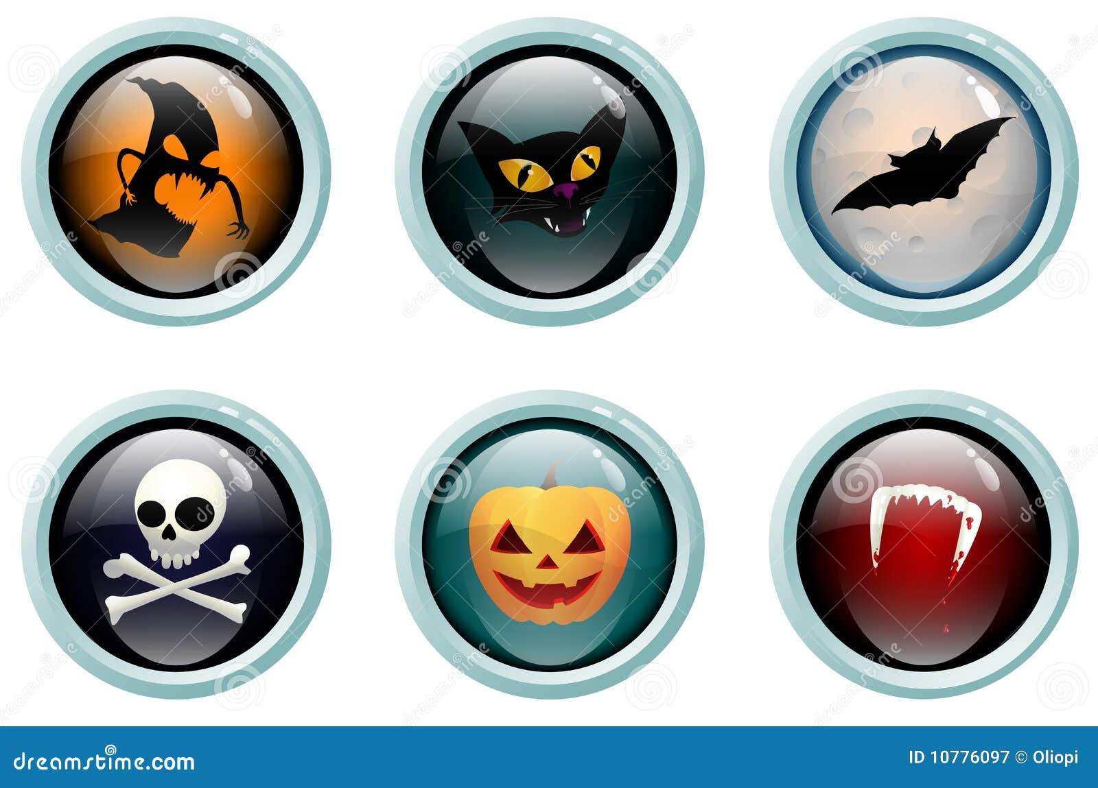 Het glasknopen van Halloween
