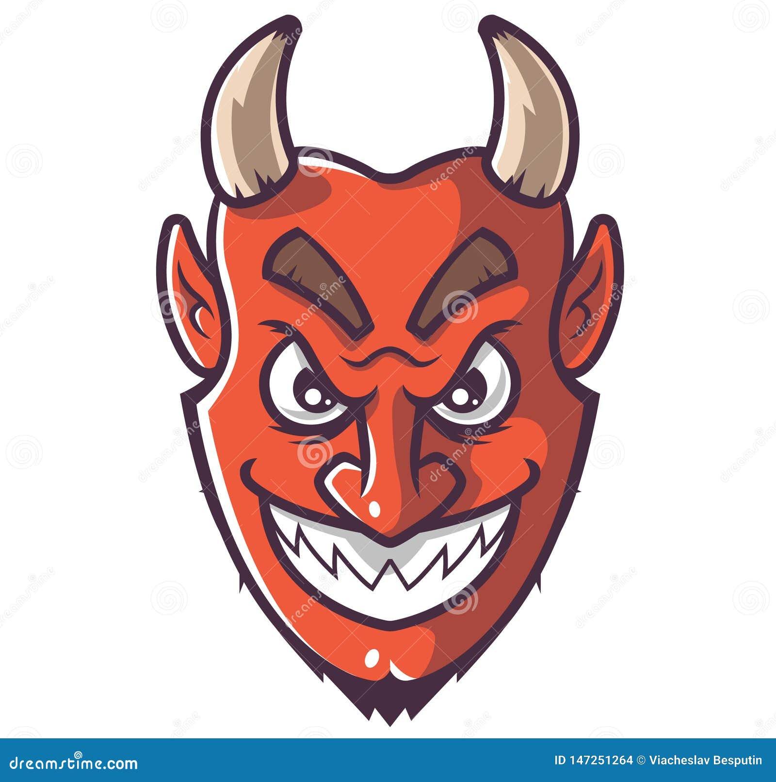 Het glimlachen duivelsgezicht