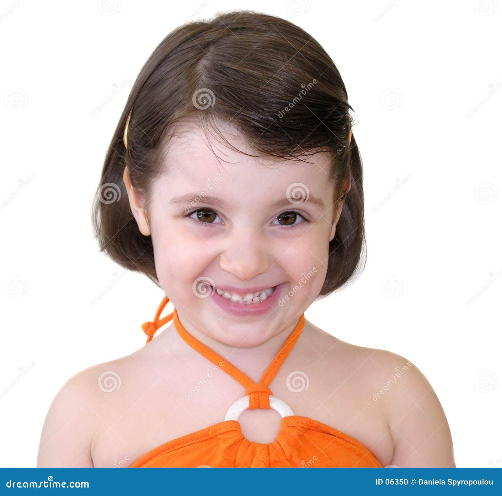 Download Het Glimlachen Van Het Meisje Stock Foto - Afbeelding bestaande uit manier, onschuldig: 6350