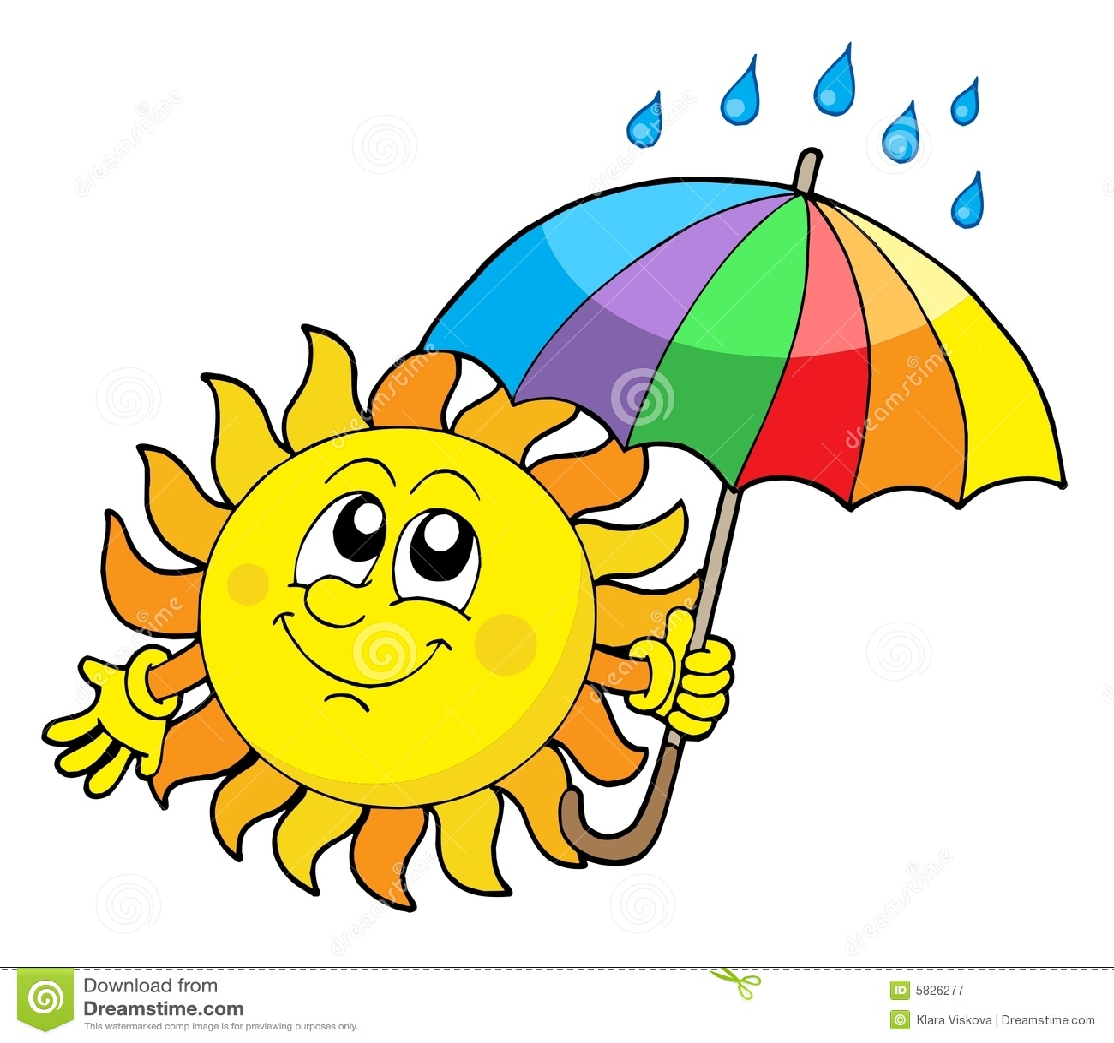 Het glimlachen van zon met paraplu royalty vrije stock fotografie afbeelding 5826277 - Zon parasol ...