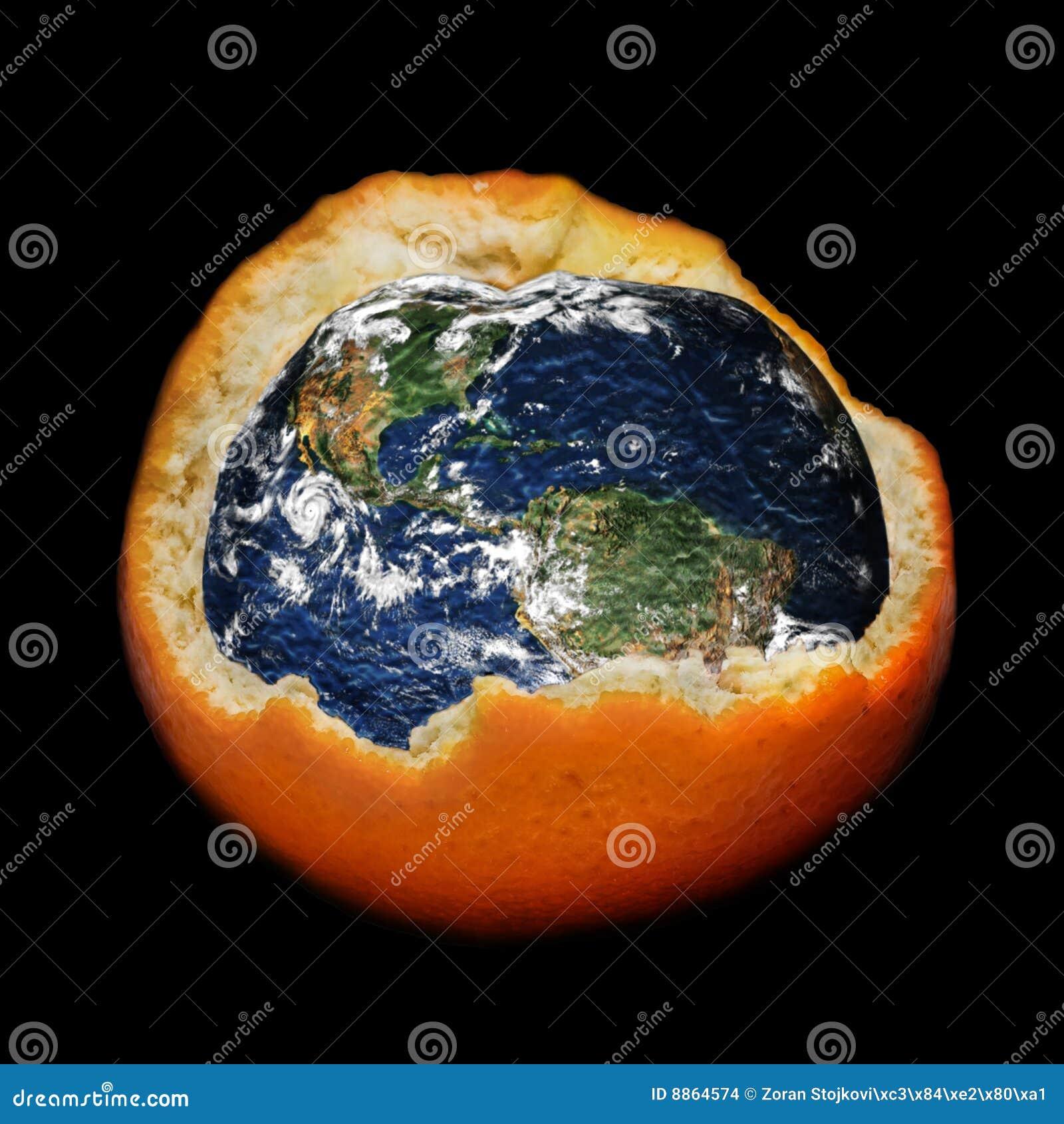 Het globale verwarmen en ozonlaag vernietigen