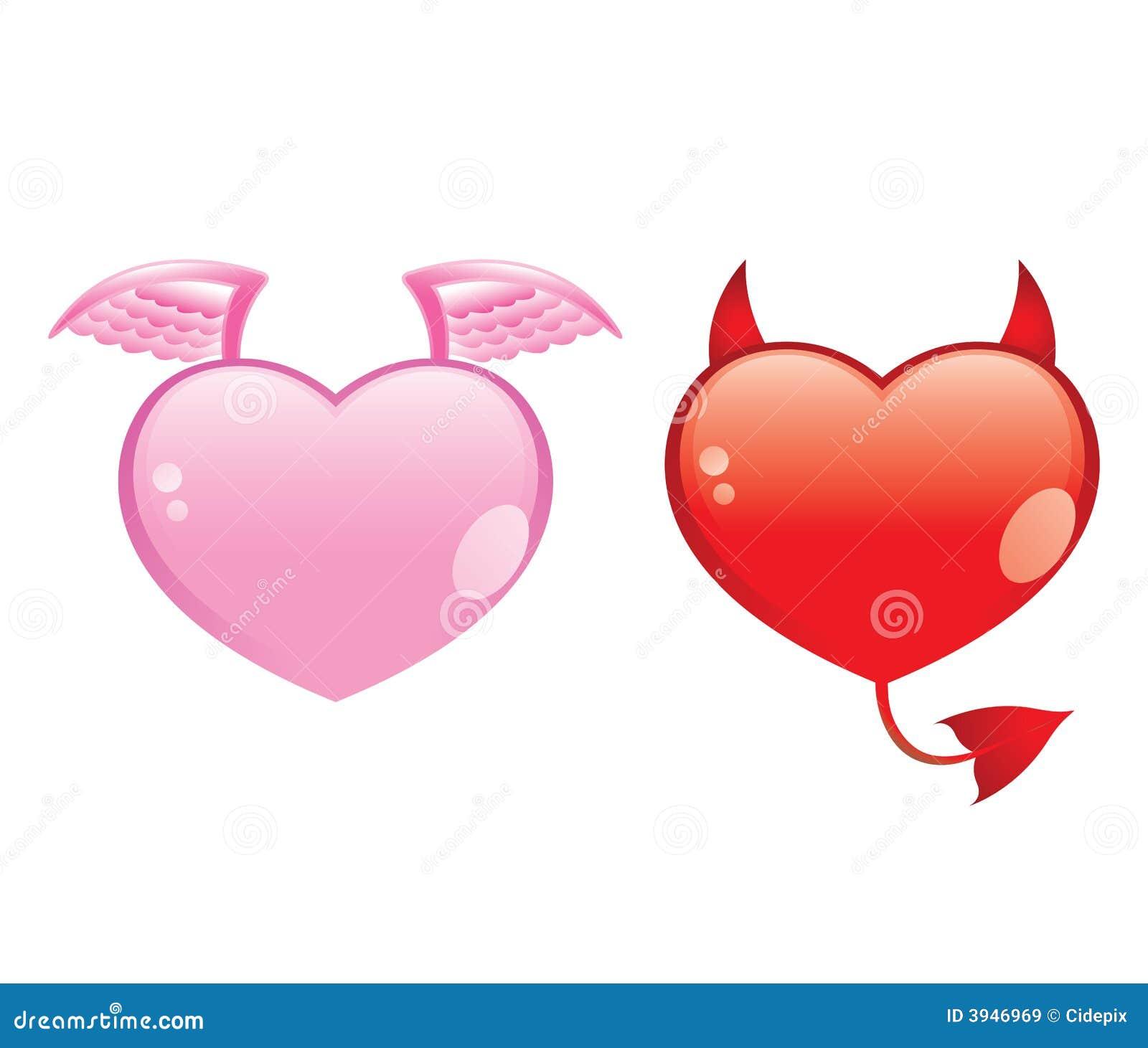 Citaten Goed En Kwaad : Het goed van de liefde versus kwaad royalty vrije stock