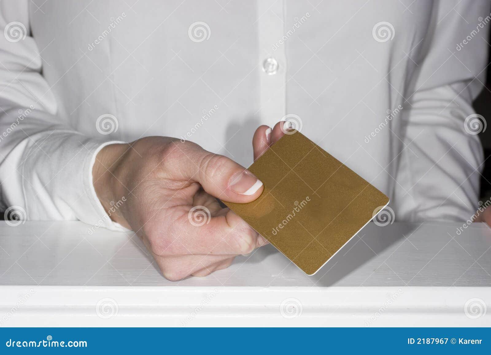 Het goedkeuren van creditcards