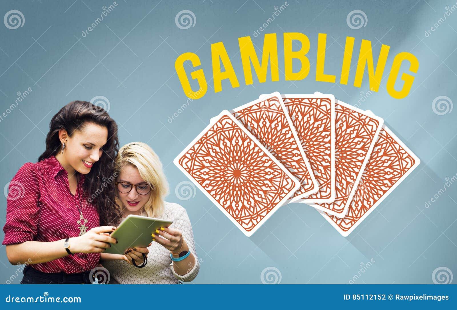 Het gokken het Concept van de het Risicoweddenschap van de Gelukpot