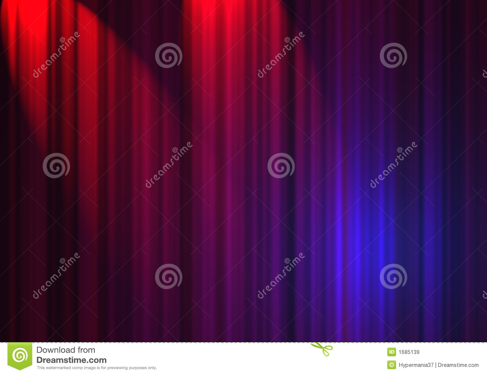 Het gordijn van het theater