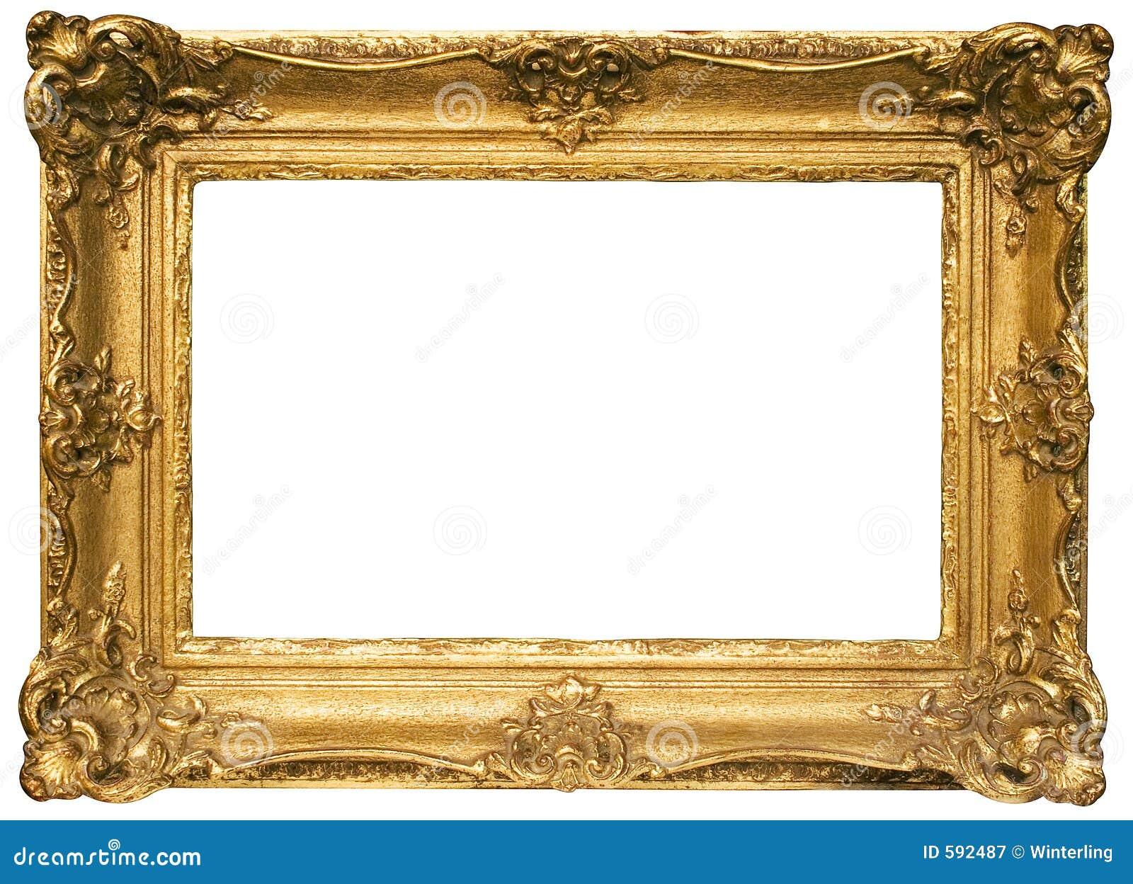 Het goud plateerde Houten Omlijsting met Weg