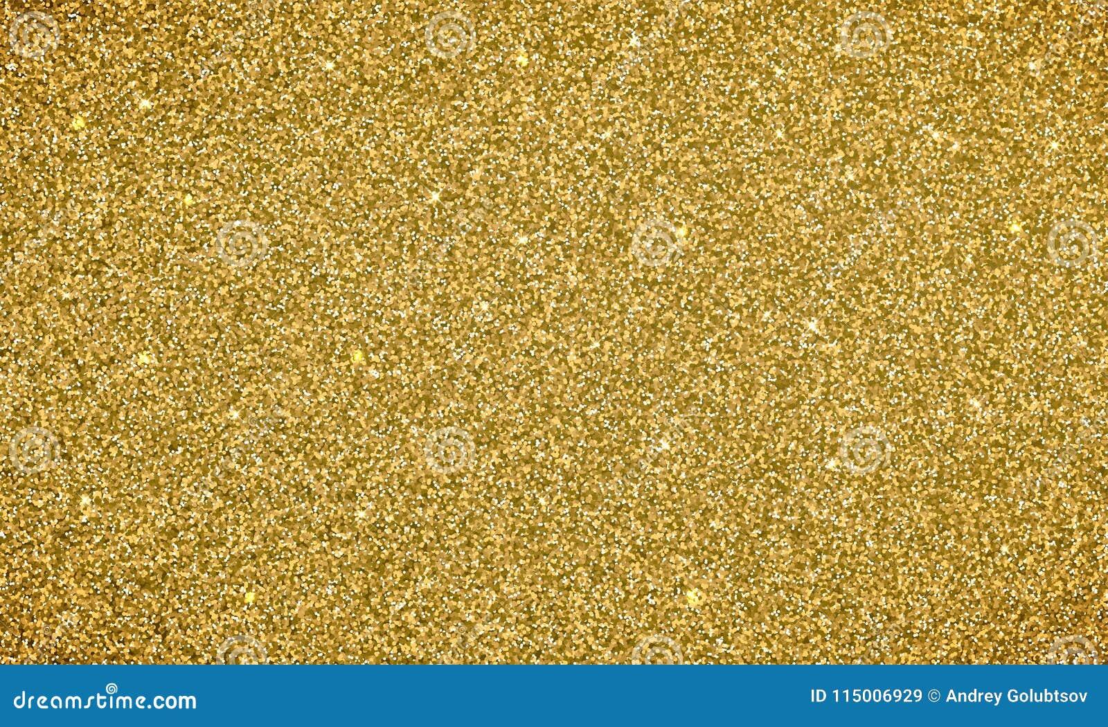 Het goud schittert achtergrondtextuurbanner Vectorglittery feestelijke achtergrond voor kaart of de achtergrond van vakantiekerst