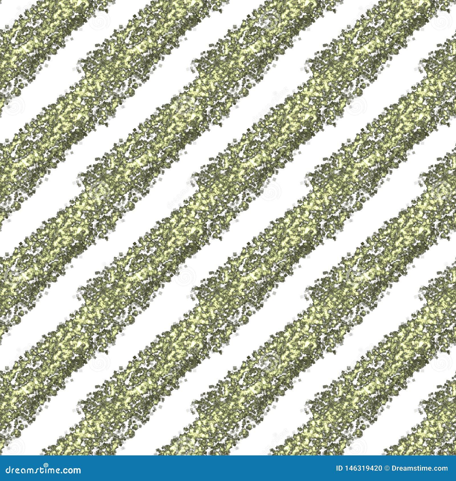Het goud schittert diagonale strepen op een witte achtergrond, naadloos eindeloos patroon