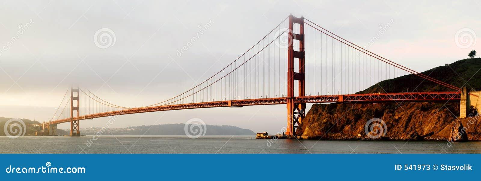 Het gouden Panorama van de Brug van de Poort