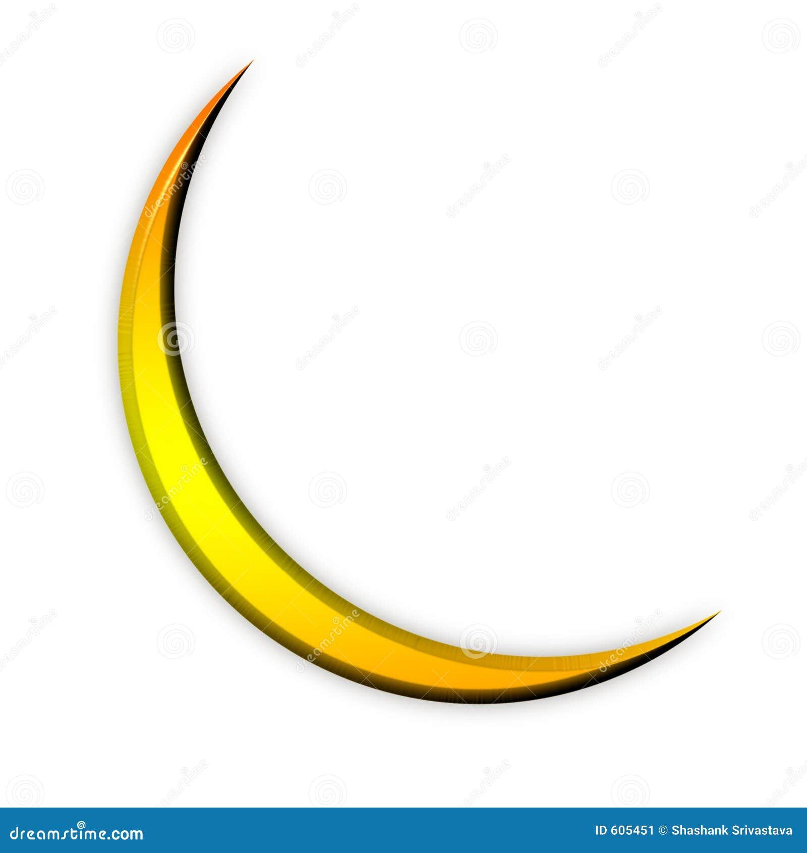 Het gouden Pictogram van de Maan