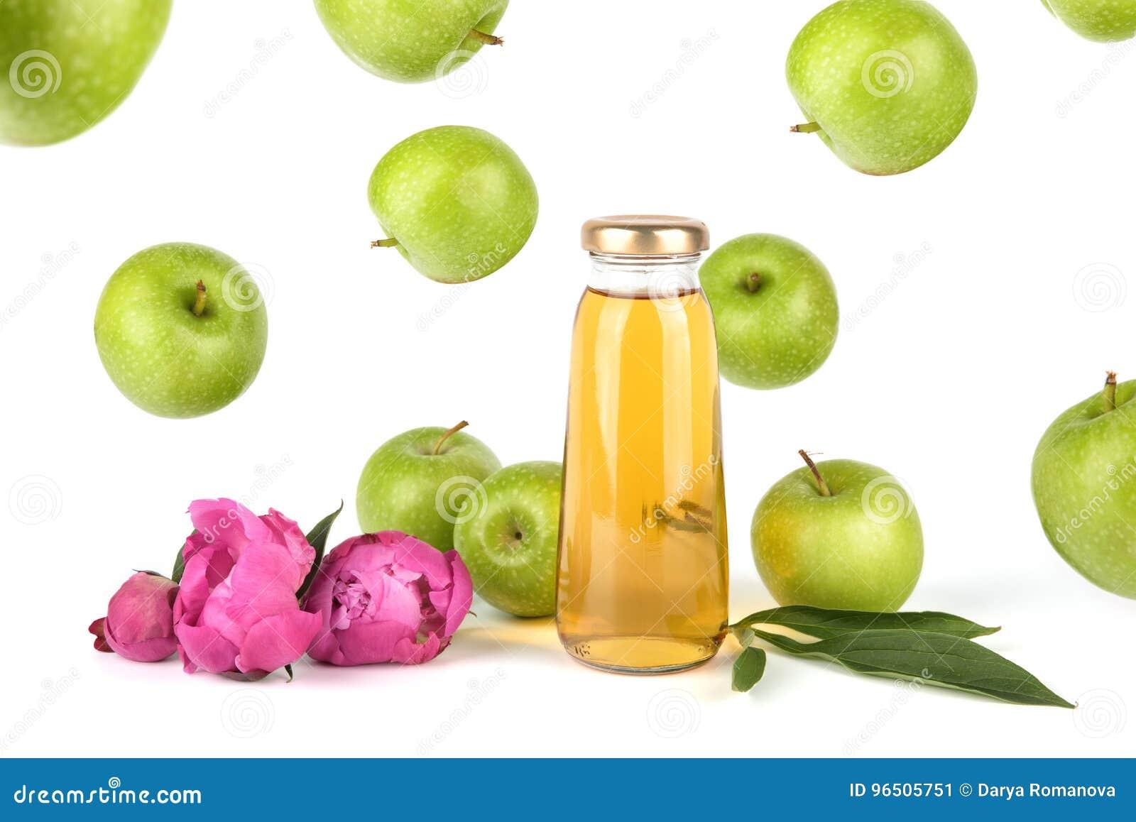 Het gouden sap van Apple in fles