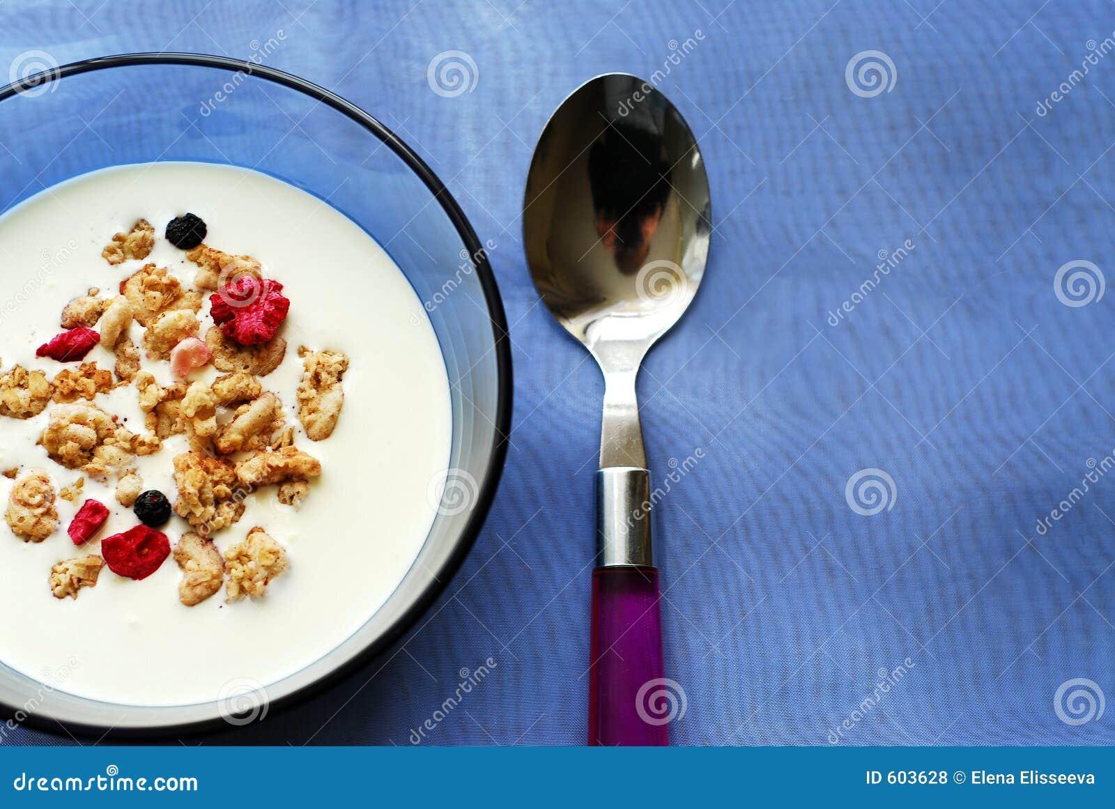 Het graangewas van het ontbijt