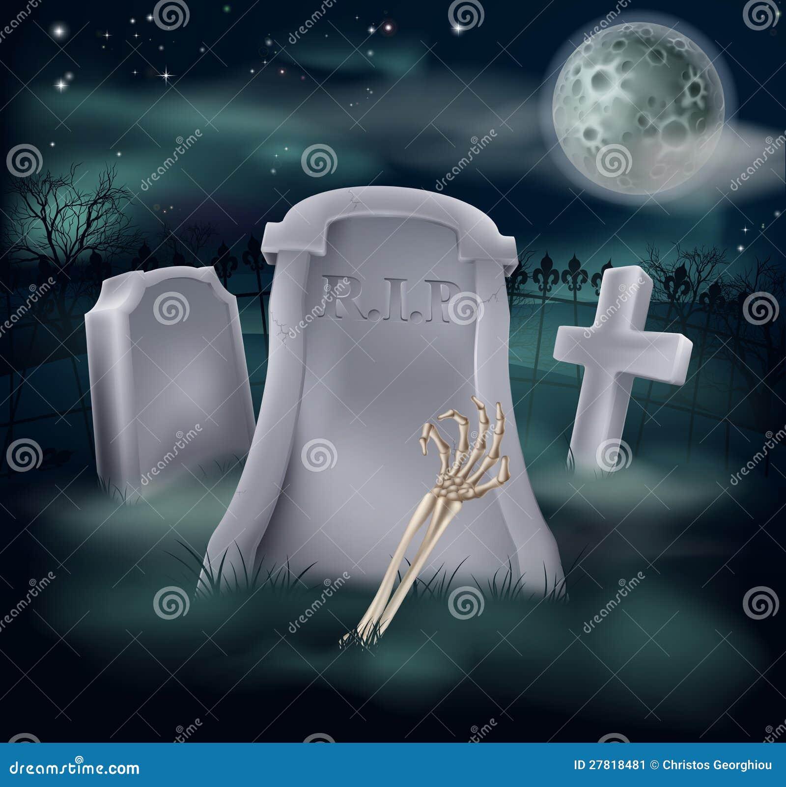 Het graf van de het skelethand van Undead
