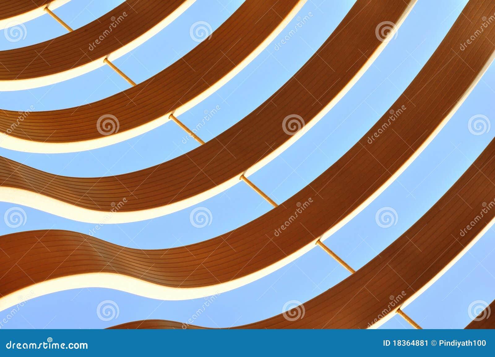 Het grafische abstracte patroon van Curvy