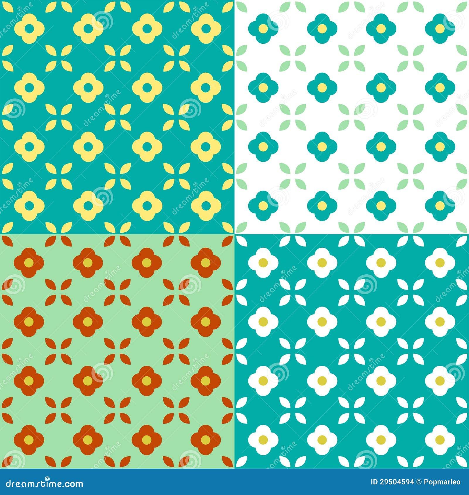 Het grafische Naadloze Patroon van Bloemen