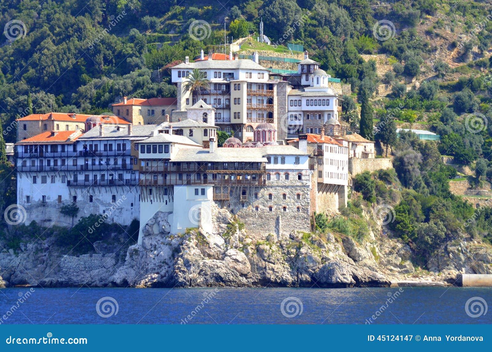 Het Grigoriouklooster zet Athos Greece op