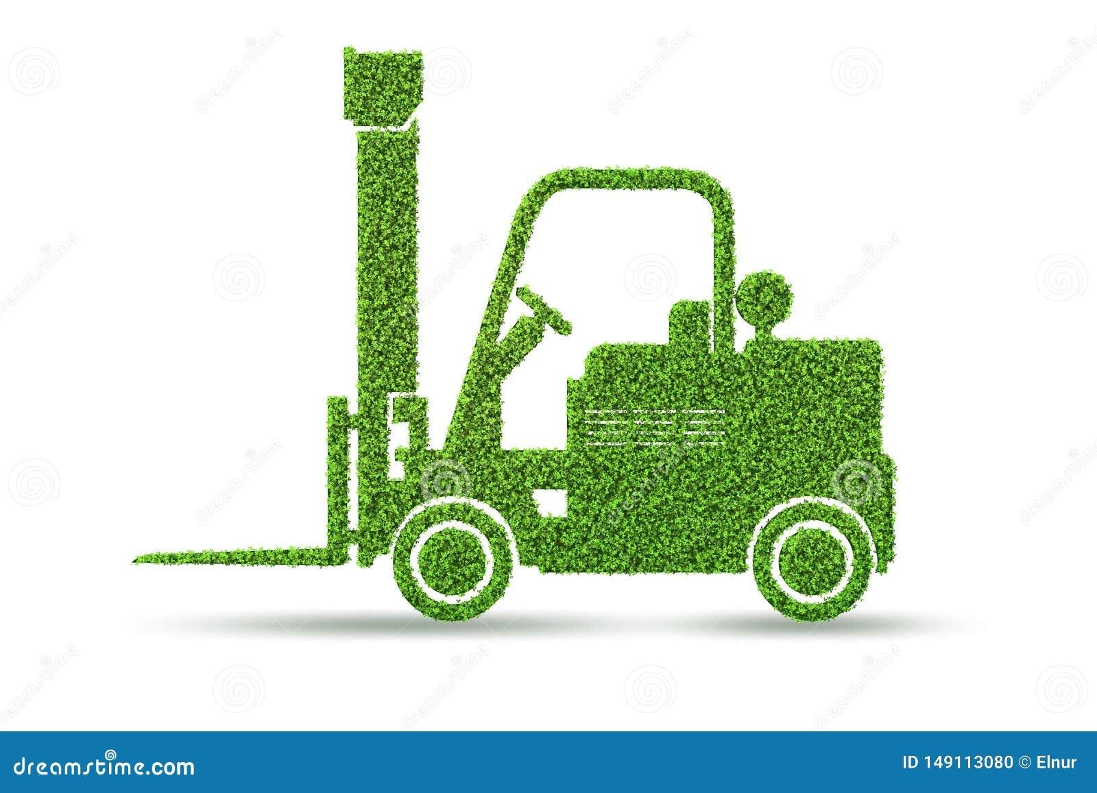 Het groene lage concept van het emissie eclectische voertuig - het 3d teruggeven