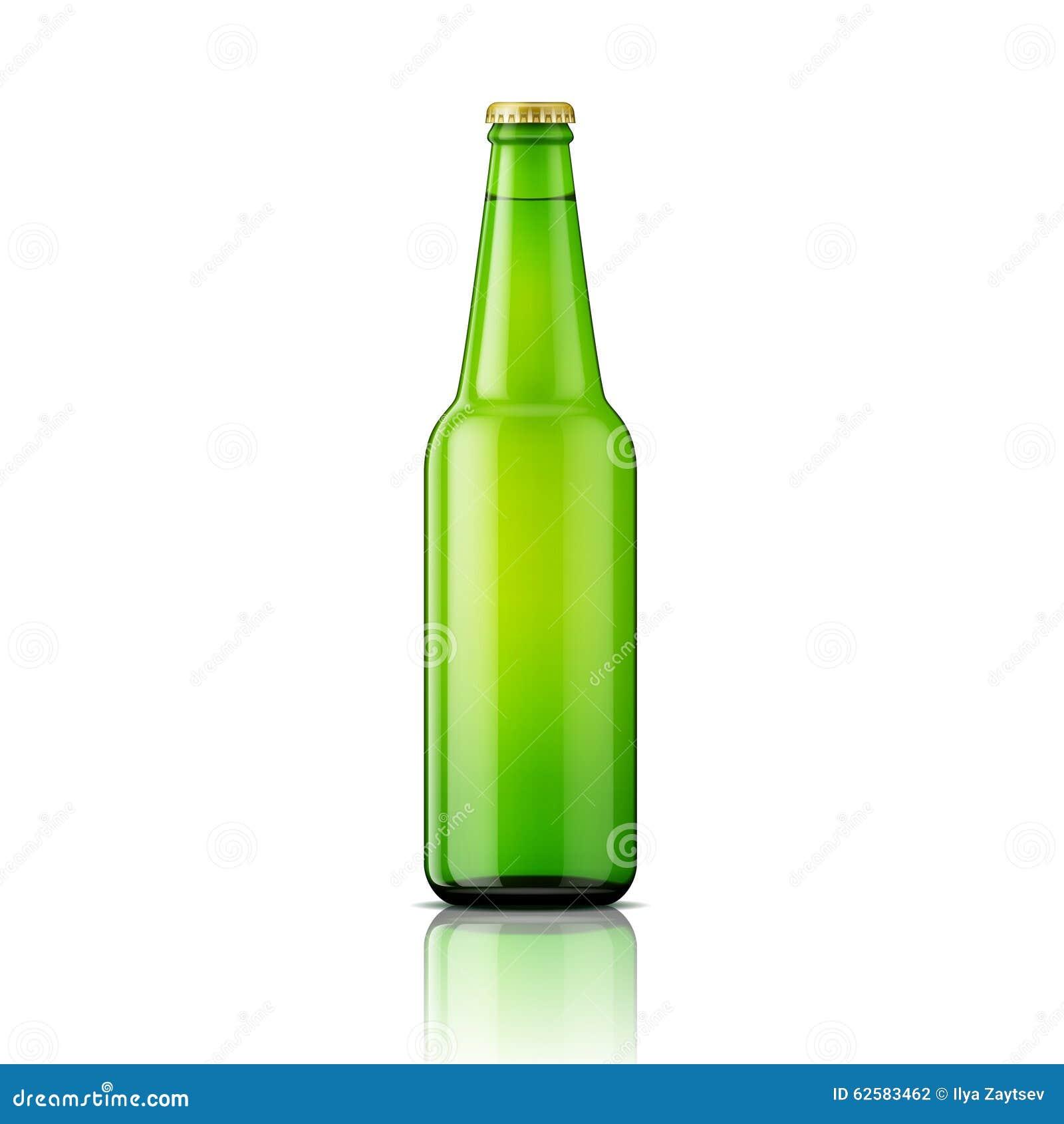 Het groene malplaatje van de bierfles