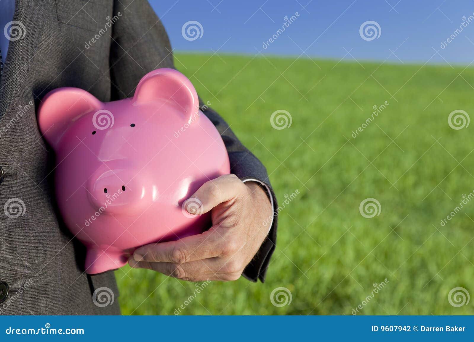 Het groene Roze Spaarvarken van de Investering