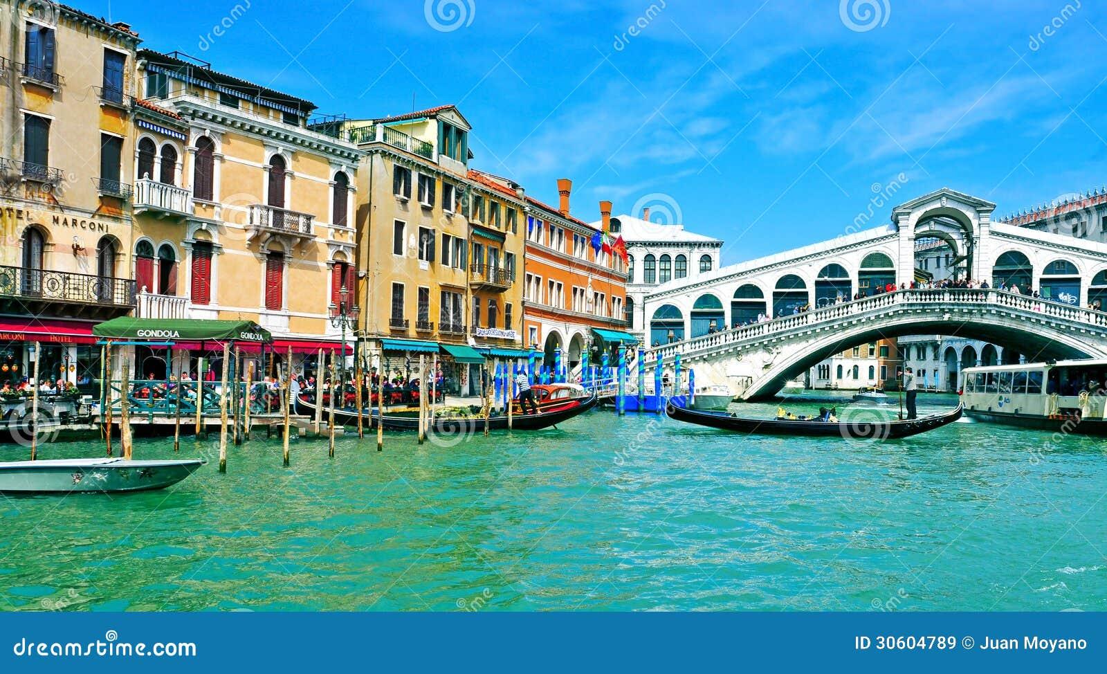 Het grote Kanaal in Venetië, Italië
