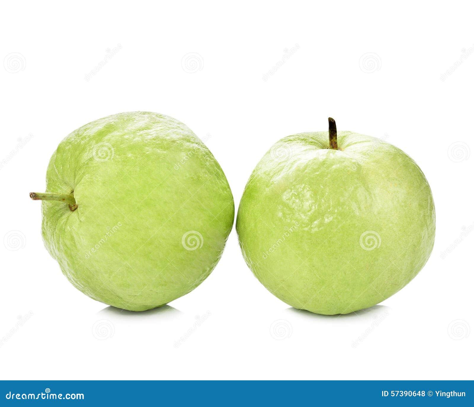 Het guavenfruit isoleerde witte achtergrond