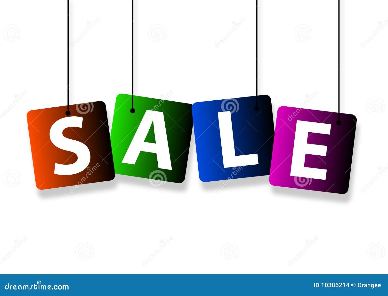 Het hangen van de verkoop vector illustratie afbeelding bestaande uit gift 10386214 - Zinkt de verkoop ...